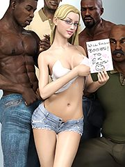 Suck my black fat cock - Interracial 3D by Dark Lord