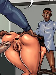 This ass was made for the horse cock - Detention 2 (Mature porn cartoon) by Black n White