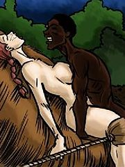He slamming her cunt hard with each thrust - Adoption of my daughters and I into the tribe by Illustrated interracial